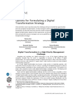 Options for Formulating a Digital Transformation Strategy