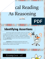 Critical Reading as Reasoning