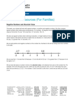 wcpss - grade 6 unit 7 rational numbers - family materials