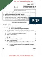 CBSE Class 12 Informatics Practices Question Paper 2014 - Set 1