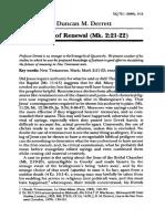 DERRETT, John Duncan Martin (2000). «Modes of Renewal (Mk. 2.21-22)». The Evangelical Quarterly 72, pp. 3-12.pdf