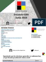 Sondeo Electoral Junio GBA