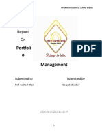 44644432 a Project Report on Portfolio Management by Deepak Choubey