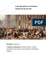 O Legado Do Liberalismo Na Primeira Metade Do Século XIX