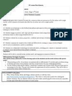 5e lesson plan-  measures of center