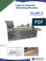 LI_AFS 8, High Speed Ampoule Filling Machine