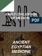 early civilization of medicine