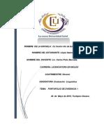 Antologia 1 Evaluacion Linguistica