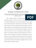 Ayotzinapa y La Desfiguraciou0301n de La Otredad