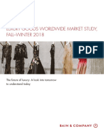Bain Digest Luxury Goods Worldwide Market Study Fall Winter 2018