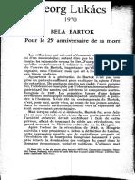 Lukacs Bela Bartok 1970