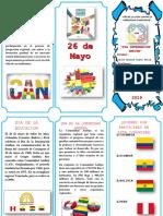 Triptico Dia de La Integracion Andigena