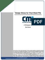 Design Stress for Vinyl Sheet Pile