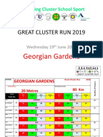 great cluster run 2019 - georgian gardens