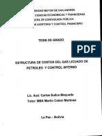 Estructura de Costos Del Gas Licuado de Petroleo