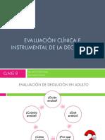 24 DE MAYO Evaluación clínica e instrumental de la deglución