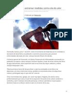 11-06-2019 - Pide Salud Sonora Extremar Medidas Contra Ola de Calor - Canalsonora.com