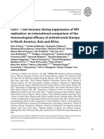 CD4+ T cell recovery during suppression of HIV replication an international comparison of the immunological efficacy of antiretroviral therapy in North America Asia and Africa 2015