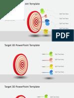 3D0041 Target 3d Powerpoint Template 16x9