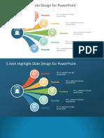 20086 01 5 Item Highlight Slide Design for Powerpoint 16x9