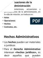 Acto y Hechos Administrativo