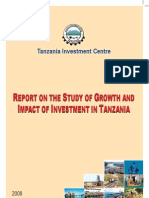 TIC 2008. Report on the Study of Growth and Impact of Investment in Tanzania.