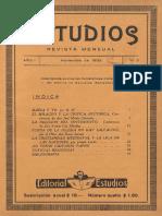 Revista Estudio, año 1 num 3