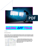 going off tour