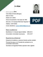 Curriculum Victor Manuel Solorio Munguia