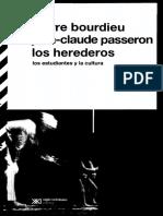 Bourdieu-Los Herederos Los Estudiantes y La Cultura