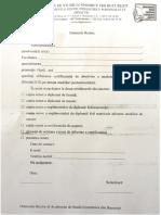 Cerere Eliberare Diploma Pedagogie