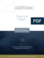 transgender identities cfsg pastoral papers 12