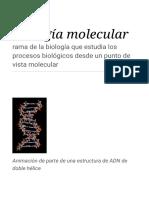 Biología Molecular - Wikipedia, La Enciclopedia Libre