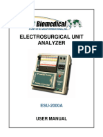 Manual analizador ESU2000A