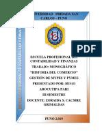 MONOGRAFIA DEL COMERCIO MYPES Y PYMES hugo arocutipa.docx