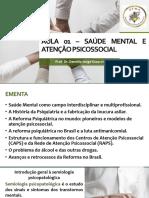 AULA 01 - Saúde Mental e Atenção Psicossocial