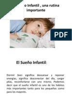 El Sueño Infantil , Una Rutina Importante