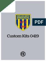 Havelock North Wanderers - Custom Kits 0419