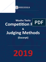 Judging methods for wushu competition