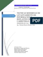 Tecnicas Modernas de Levantamiento de Informacion y Replanteo de Carreteras(Karla Campoverde; Daniel Garcia; Fabian Ortiz; Tito Vanegas; Johnny Romero)