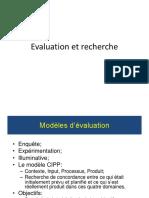 Evaluation Et Recherche