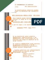 Adjetivos Restrictivos y No Restriictivos