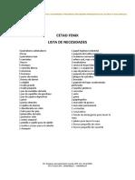 Lista de Necesidades