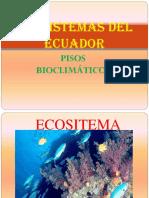 Ecosistemas del Ecuador y pisos climáticos