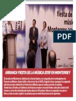 19-06-19 ARRANCA 'FIESTA DE LA MÚSICA 2019' EN MONTERREY