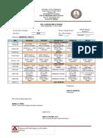 SFNHS Schedule