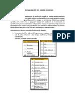 c) Ajustes en La Racionalización Del Uso de Recursos