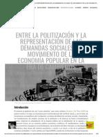 Entre La Politización y La Representación de Las Demandas Sociales_ El Movimiento de La Economía Popular en La Era de Cambiemos – Tercer Cordón
