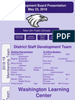 2019 staff development board report
