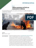 'Coletes amarelos' voltam a protestar em Paris em manifestação com momentos de violência _ Internacional _ EL PAÍS Brasil